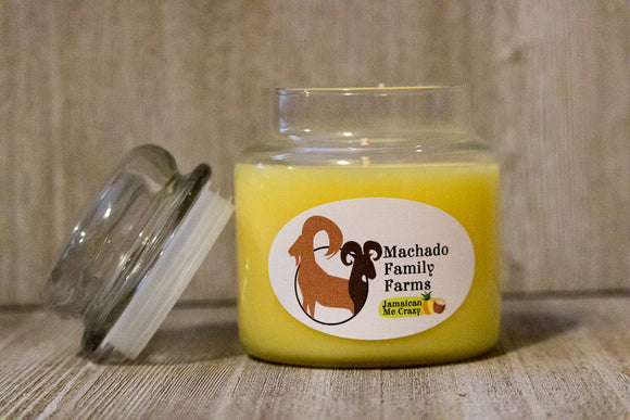 Jamaican Me Crazy 14oz Candle with Lid - Machado Family Farm