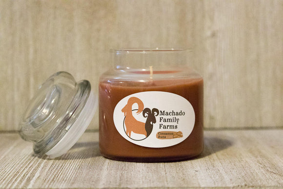 Cinnamon Buns Medium Candle with Lid - Machado Family Farm