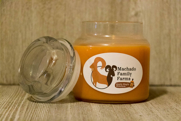 Apple Maple Bourbon Medium Candle with Lid - Machado Family Farm