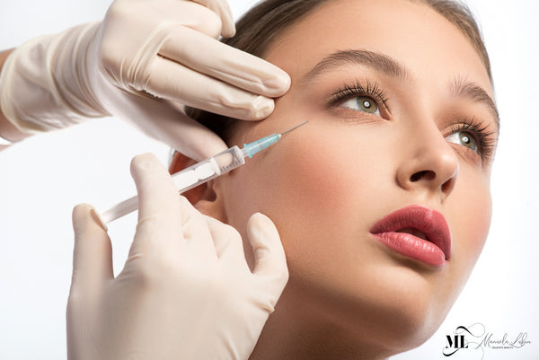 Cute girl receiving Botox treatment | Anti Aging