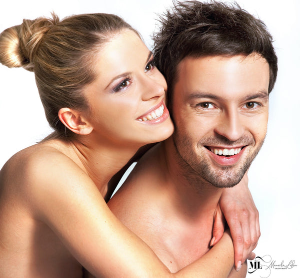 Happy couple faces | ML Delicate Beauty Retinol cream