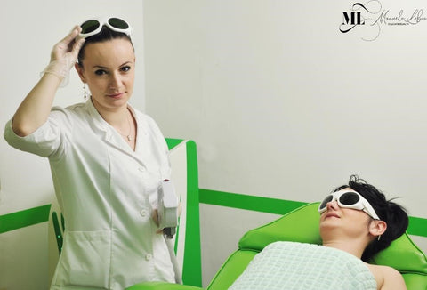 Laser professional with a patient - ML Delicate Beauty
