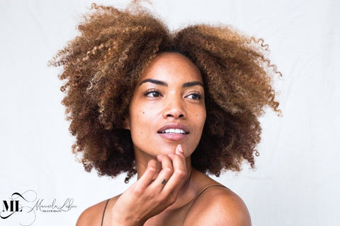 Black woman with best natural skin | ML Delicate Beauty