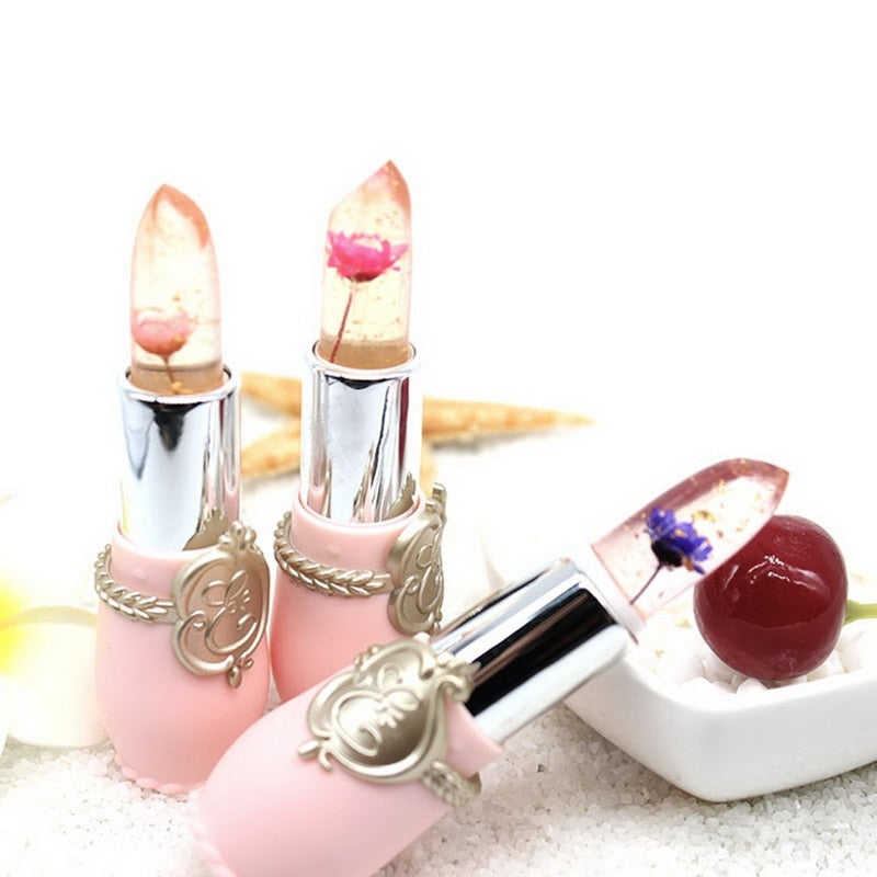 Flower infused lipstick, lip balm, moist lips, prevent chapped lips, healthy and safe