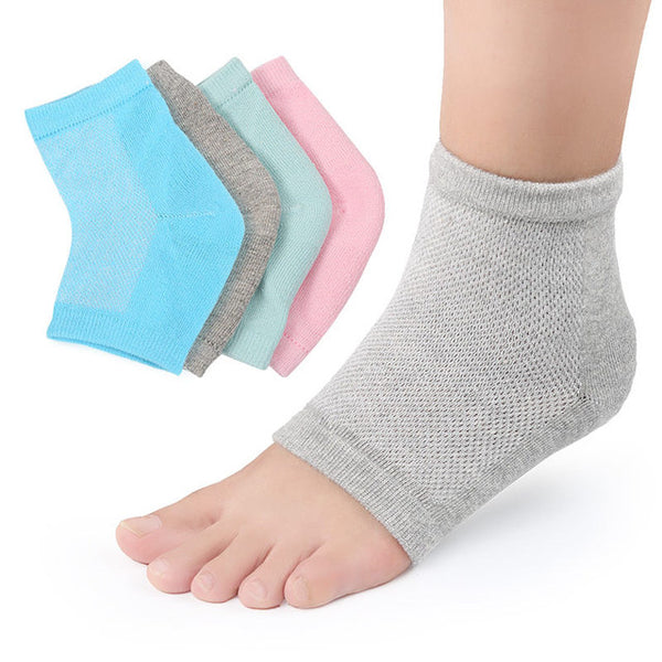 These vented spa gel socks can be worn during the day or night