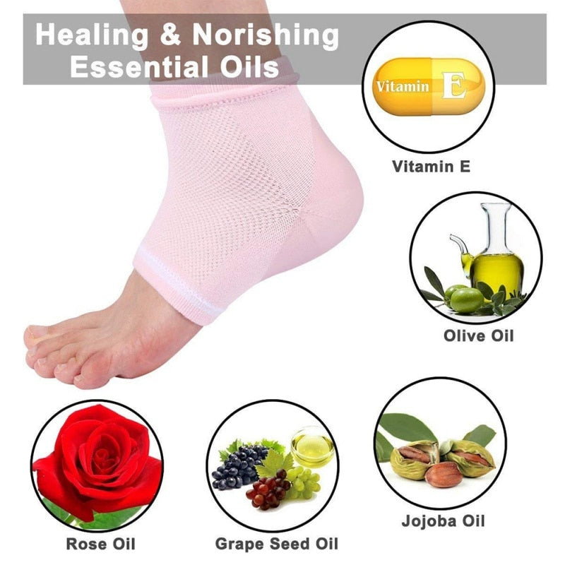 Moisturize, heal and repair your dry, cracked heels, Moisturizing Gel Spa Socks