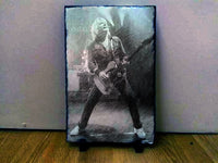 12x8 or 8x6 Inch Bespoke Custom Pet Sketch Art Portrait on Rock Slate