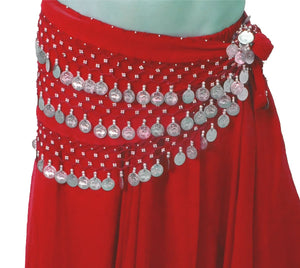 Belly Dance Hip Belts Scarves Size S M L XL XXL