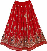 Summer Indian Sequin Boho Skirt