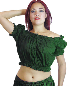 Tribal Choli Puff Top