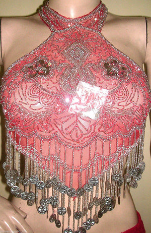 Sequin Halter Neck Bra Top