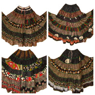 Banjara Gypsy Hippie Frill Skirts - BLACK SHADES