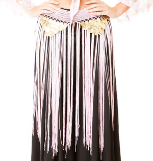 Belly dance costumes gold coins tassel dancing belts hip scarf