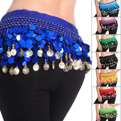 Belly Dance Hip Scarf Colourful Disc Belt