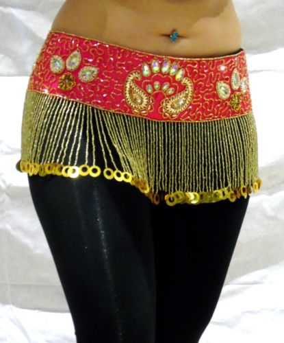 Luxury SEQUIN Coin Hip Belt Scarf