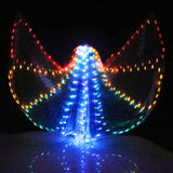 Colourful Belly Dance Performance Costume LED Butterfly Wings With Stick