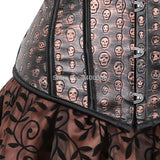 Steampunk costumes women plus size gothic skirts corsets bustier dress