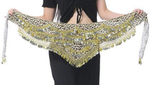 Leopard Print belly dance hip scarf belt