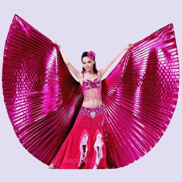 Belly Dance Isis Wings Oriental Design New Plain Colours Wings