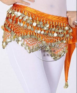 Stunning Belly dance hip scarf coin belt