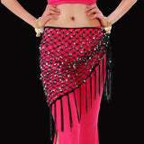 Belly Dance Costume Hip Scarf Belt Triangle Sequin Shawl Practice Belt