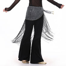 Belly Dance Sequin Tribal Tassel Hip Scarf