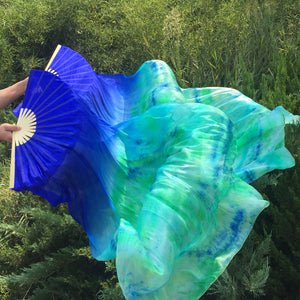 Belly Dance Fan Veils Blue Turq