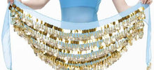 288 coins 5 layer Coin Belly Dance Hip Scarves