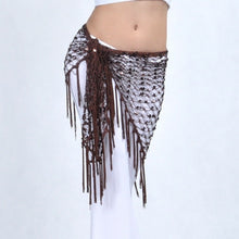 Belly Dance Long Tassel Triangle Hip Belt Scarf