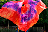 100% Silk belly dance veil Tie Dye