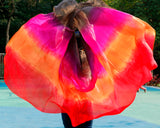 Rectangle 100% Silk belly dance veil scarf 4 colour
