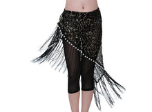 New design embroidery bellydance pearl hip scarf tassels Belts