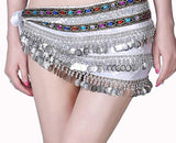 Belly Dance Costume Belt Dancing Hip Scarf Velvet Rhinestone Belts