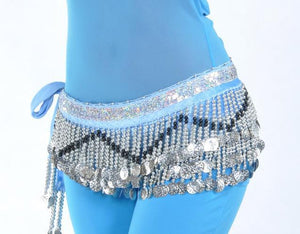 Belly Dance  Hip Scarf 258 silver coins