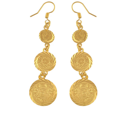 Gold Coin earrings jewellery women