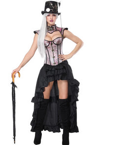 Steampunk Corsets & Skirt Ruffles Pleated Skirts Bustier Tops Costume for Shows