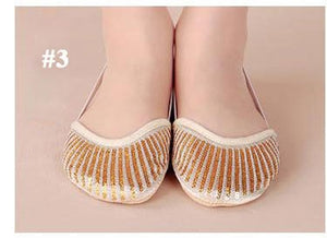 Belly Dancing Shoes Dance Accessories Toe Pads Gold Protector Ballet Dance