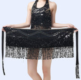 Belly Dance Costume Hip Scarf  Dancing Wrap Skirt Fringe Belt