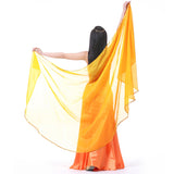 Belly Dance Scarf Half Circle Veils Professional Veil Chiffon Gold Edge
