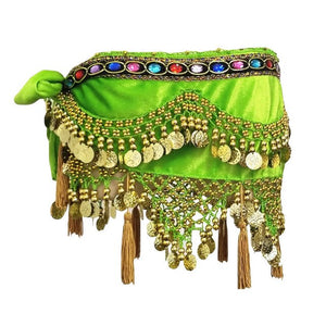 Colourful Rhinestone Velvet Belt for Belly dancing