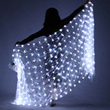 100% Silk Belly Dance LED Silk Veil Light Up Stage Performance Props