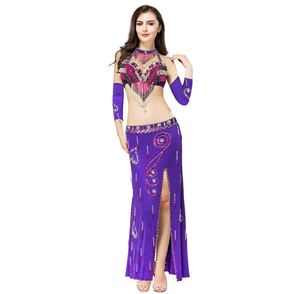 Women's belly dance set costume belly dancing clothes elegant bellydance