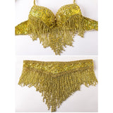 Luxury Belly Dance 3 Pcs Costume Bra belt necklace 34b/c 36b/c 38b/c Gold&silver