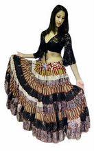 Hippie Silk Blended Frill Skirt - KHAKI SHADES
