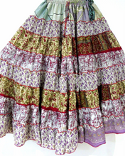 Hippie Silk Blended Frill Skirt - SIMPLE SHADES