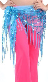 Sparkling Fringe Belly Dance Tribal Scarf