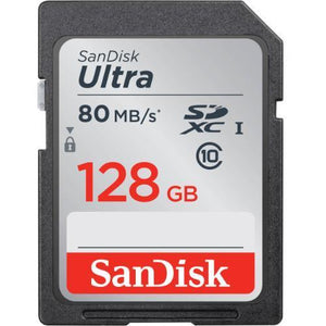 Accessories - SanDisk 128GB Ultra UHS-I SDXC 80MB/s Memory Card