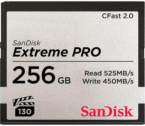 Accessories - SanDisk Extreme Pro 256GB CFast 2.0 Card