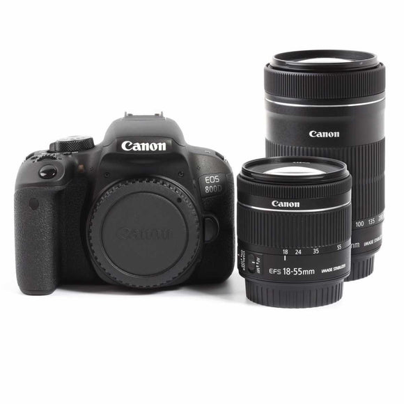 DSLR - Canon EOS 800D Digital SLR Camera + EF-S 18-55mm IS STM + EF-S 55-250mm IS STM Twin Kit
