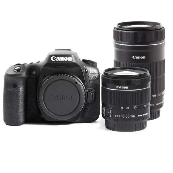 DSLR - Canon EOS 90D Digital SLR Camera + 18-55mm IS STM + 55-250mm IS STM Lens Kit